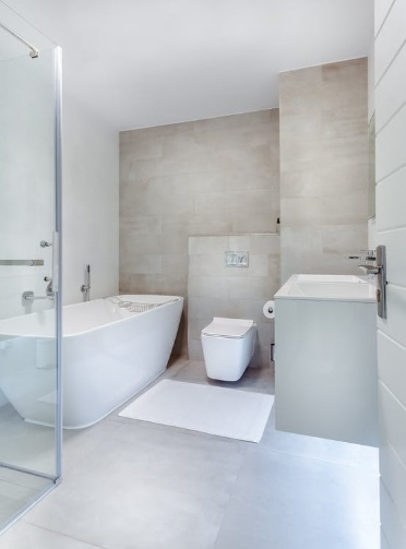 Bathroom with white accessories