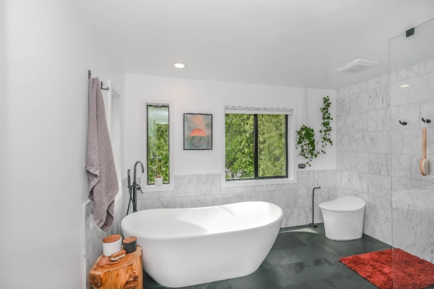 A remodeled bathroom with a fresh look