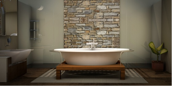 A modern bathroom with some traditional stuff