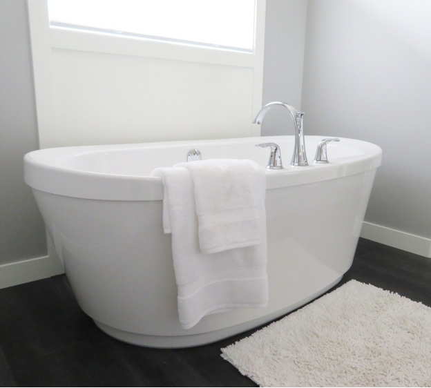 A modern bathtub that's been refinished